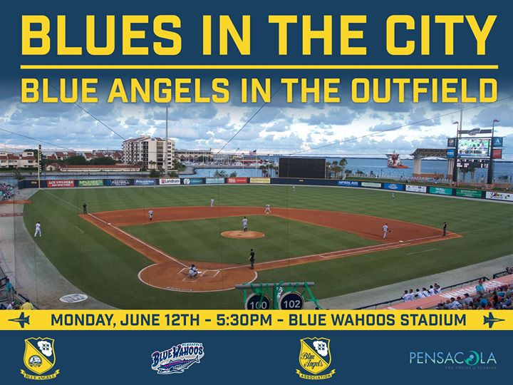 860d024a226 Blues in the City Blue Angels in the Outfield