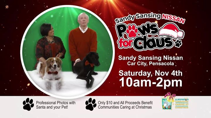 Youu0027re Invited To Our First Annual Paws For Claus Event At Sandy Sansing  Nissan.
