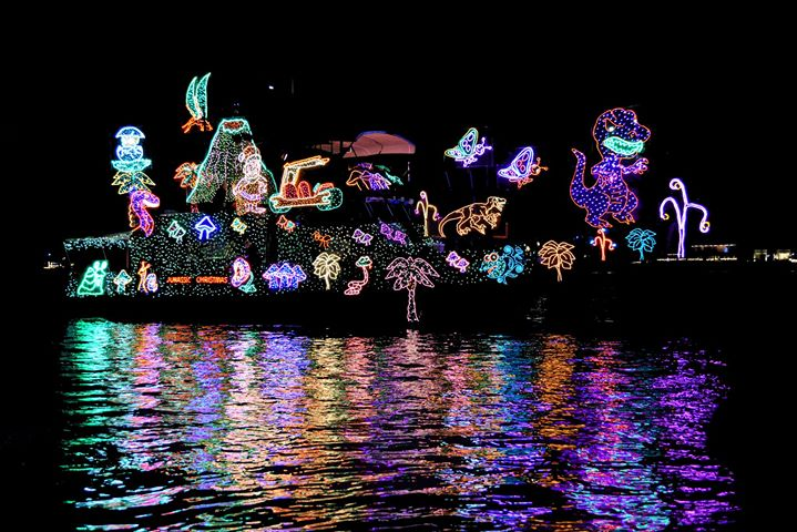 Lighted Boat Parade on Pensacola Beach