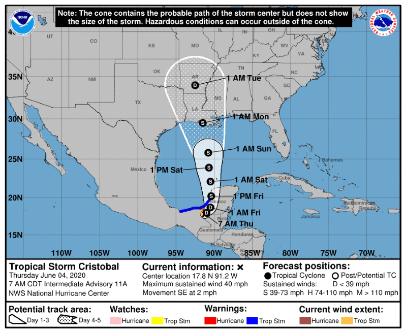 Will Tropical Storm Cristobal reach Pensacola this weekend Follow the latest updates