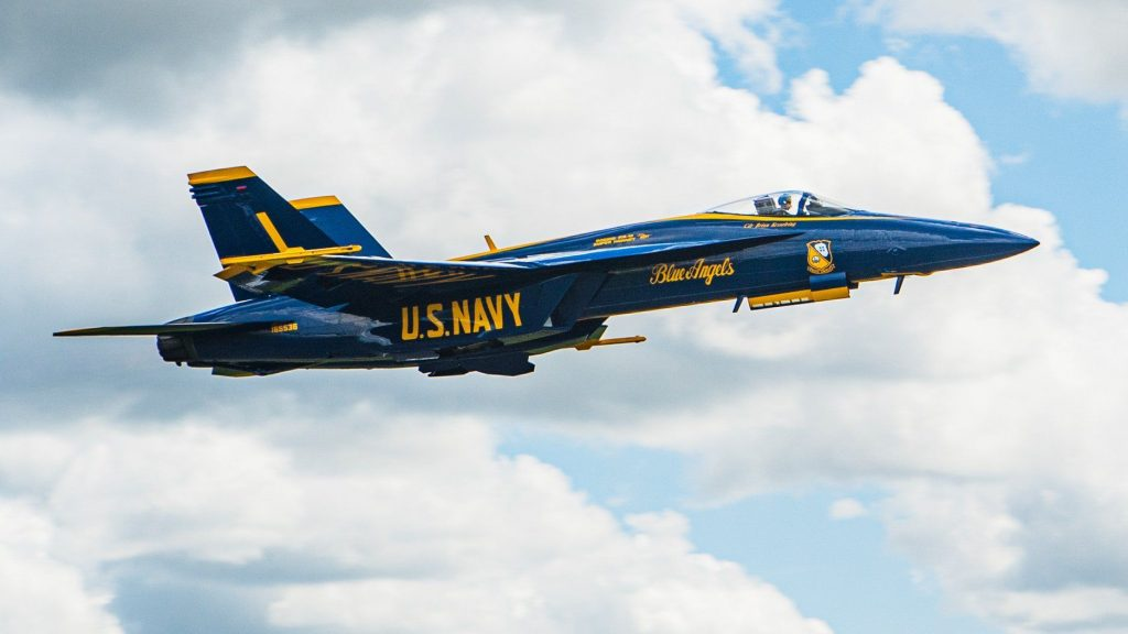 Historic day at NAS Pensacola as first Blue Angels Super Hornet is delivered