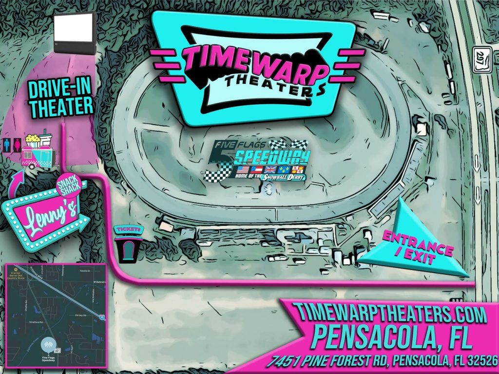 Timewarp Theaters permanent drive-in movie setup coming to Pensacola in April