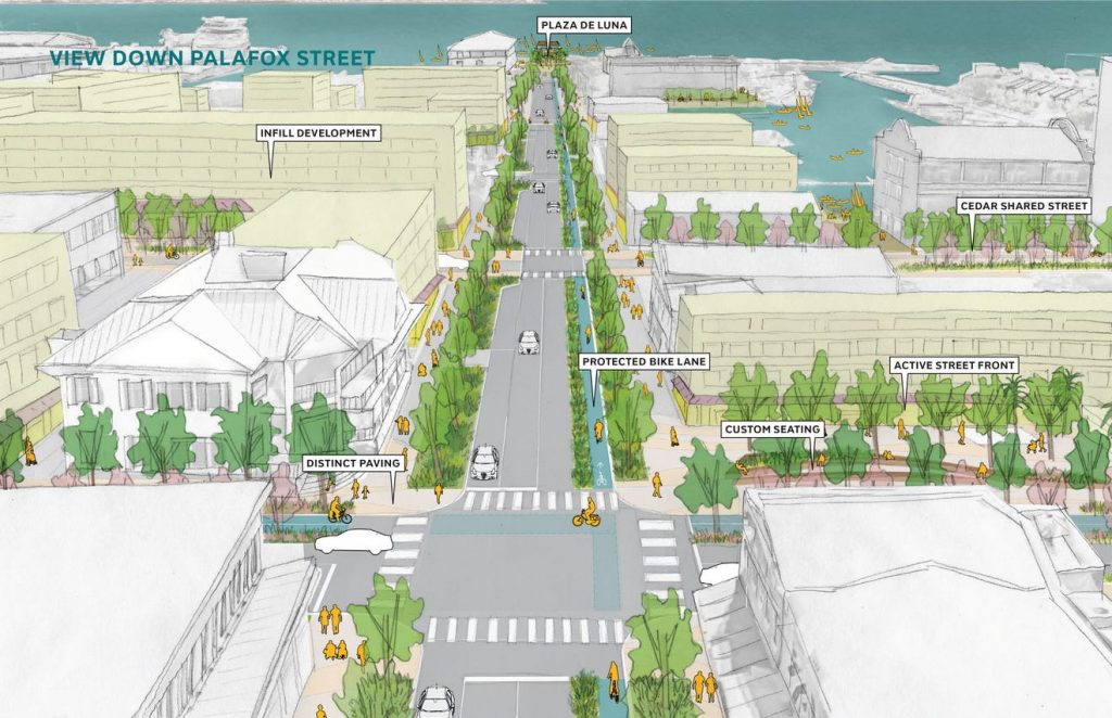A pedestrian, bike-friendly downtown is coming to Pensacola. Here's how to see the designs