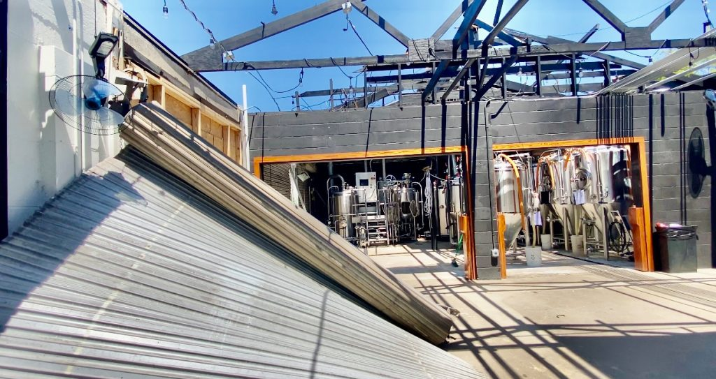 Pensacola brewery begins rebuilding process after storms cause major damage