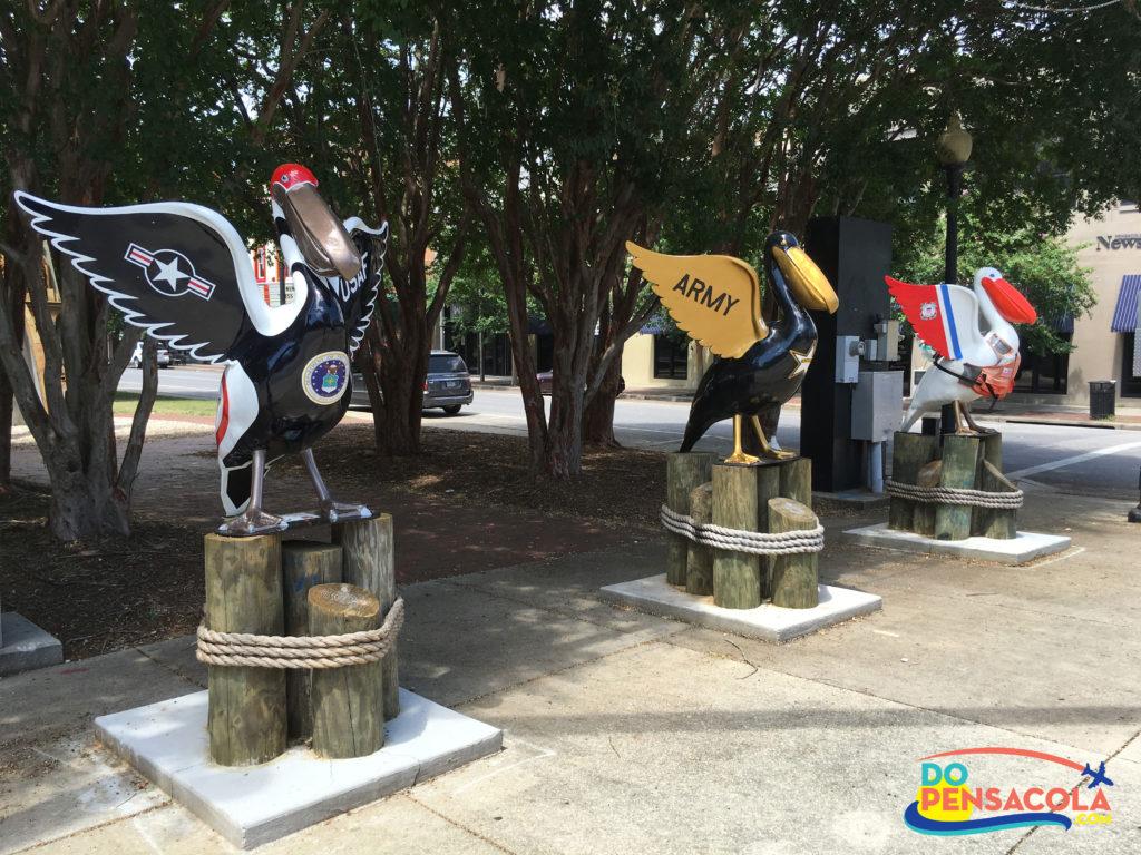Pensacola Pelicans in Paradise Statues