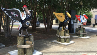 Pensacola Pelicans in Paradise Statues