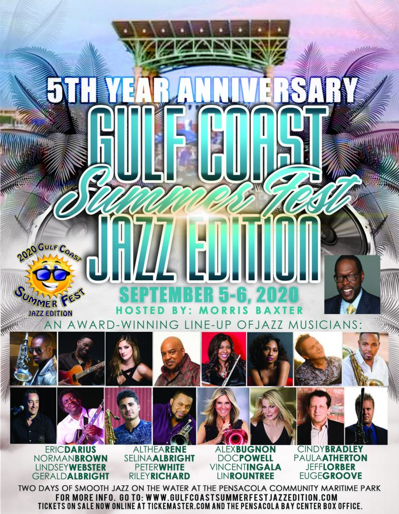 Gulf Coast Summer Fest Jazz Edition Is Happening September 5-6 In Pensacola