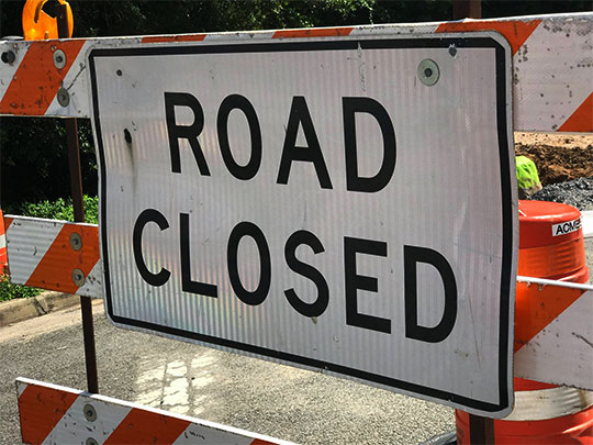 Here Are This Week's Road Construction Slow Spots