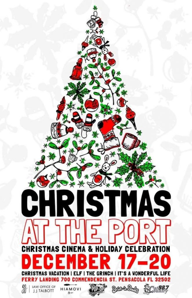 'Christmas at the Port' pop-up cinema brings holiday movies, block party to Pensacola