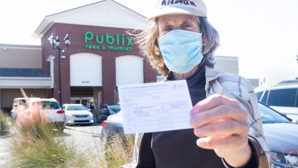 'So happy': Pensacola seniors flock to Publix for COVID-19 vaccine