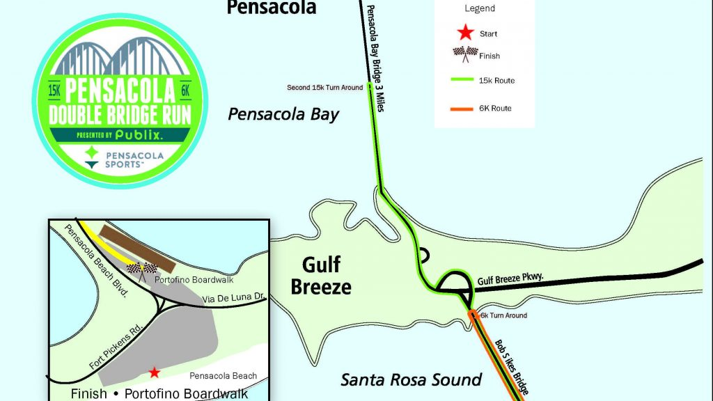 2021 Double Bridge Run: Pensacola Sports unveils revised course for annual race