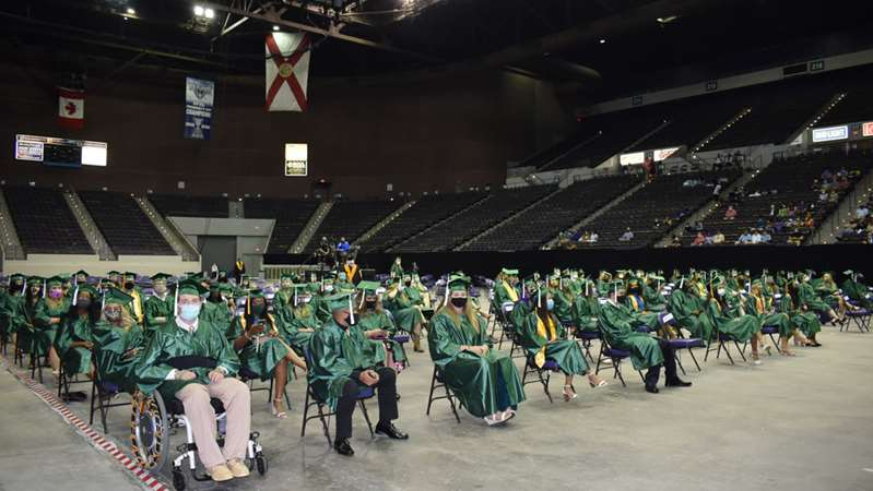 Pensacola State College to hold in-person graduations at Bay Center
