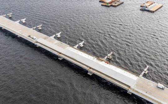Pensacola Bay Bridge Now Driveable End To End, Still Expected To Open Next Week