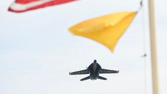 Despite rain potential, Blue Angels Pensacola Beach Air Show 'still a go' for weekend